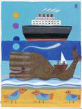 Day at the Beach Giclée par Nathaniel Mather