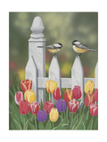 Chickadees and Tulips