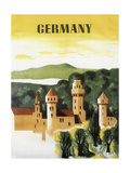 Germany Castle Vint Trav Giclée
