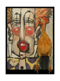 Clown and Rubber Chicken