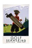 Golf Semmering Giclée