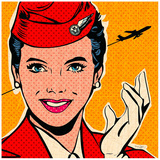 Flight attendant red