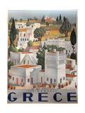 Greece Dandros travel poster Giclée