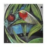 Humming Bird and Cherry