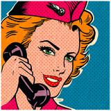 Flight attendant pink