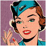 Flight attendant turquoise