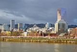 Storm over Portland and Willamette River  Portland  Oregon