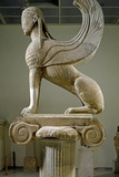 The Naxos Sphinx  Greek Marble Sculpture