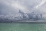 Rain Clouds and Thunderstorm at Sea