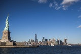 Liberty Island  Statue of Liberty  Lower Manhattan  Manhattan  New York City  United States  USA