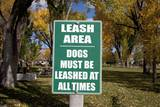 Dogs Must Be Leashed Sign in Front of Park in Ridgeway Colorado