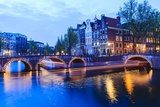 Amsterdam Canals at Dusk