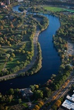 Sunrise Aerials of Charles River  Cambridge  Boston and New England