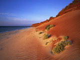 Red Sand Dunes before an Australian Coastline