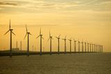 Line of Wind Turbines