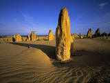 Limestone Pillars in Desert