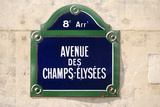 Address Sign on Champs-Elysees