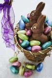 Easter Egg Collection in Basket