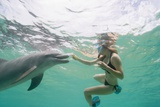 Woman with Bottlenose Dolphin