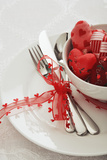 Valentines Day Themed Table Setting