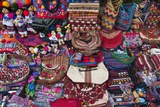 Guatemalan Textiles for Sell at Market in Antigua