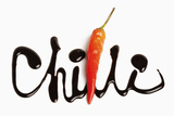 The Word Chilli Written in Chocolate