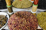 Olive Stand in a Souk in the Medina in Marrakech