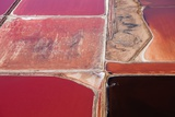 Aerial View of Salt Evaporation Ponds  Walvis Bay  Skeleton Coast