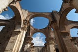 Arches in Old Cathedral Ruins in Antigua in Guatemala