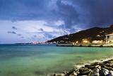 Coastla Town at Dusk  Road Town  Tortola  British Virgin Islands