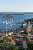 View of the Town from Fortress  Hvar Town  Hvar Island  Croatia