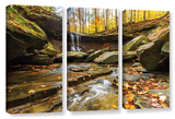 Blue Hen Falls 3  3 Piece Gallery-Wrapped Canvas Set