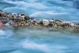 Pebbles in Mountain Stream  Triglav National Park  Slovenia
