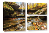Blue Hen Falls 3  3 Piece Gallery-Wrapped Canvas Flag Set