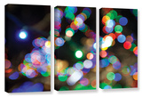 Bokeh 2  3 Piece Gallery-Wrapped Canvas Set