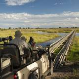 Safari Vehicle Crossing Bridge