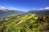 Columbia River Gorge from Crown Point  Oregon  Columbia River Gorge National Scenic Area  Oregon