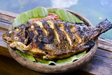 Grilled Nila Fish  Served with Banana Leave