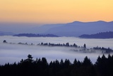 Sunrise through Morning Fog Adds Beauty to Happy Valley  Oregon  Pacific Northwest