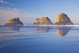 Crescent Beach along Ecola State Park  Oregon Coast  Pacific Ocean
