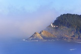 Fog Adds Beauty to Heceta Head Lighthouse  Oregon Coast  Pacific Ocean