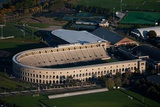Sunrise Aerials of Soldiers Field  Harvard in Cambridge