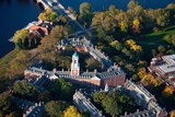 Sunrise Aerials of Eliot House Clock Tower  Harvard  New England