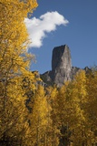 Chimney Peak and Courthouse Mountains in the Uncompahgre National Forest  Colorado