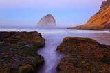 Beautiful Sunrise over Haystack Rock  Cape Kiwanda  Oregon Coast  Pacific Ocean  Pacific Northwest