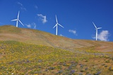 Electric Wind Turbine in Columbia River National Scenic Area  Washington State Pacific Northwest
