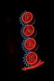 Neon Sign to Park  St Louis  MO