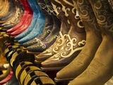 Line up of New Cowboy Boots in Old Scottsdale