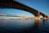 Eads Bridge on the Mississippi River  St Louis  Missouri