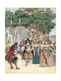Nicolas Fouquet Receiving French King Louis XIV